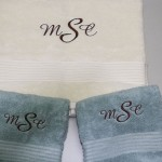 Custom Monogrammed Towel Set